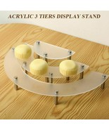3 Tier Cup Cake Stand Clear Durable Round Acrylic Cupcake Stands Serving... - $34.06