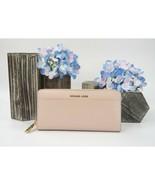 Michael Kors Soft Pink Saffiano Leather Pocket Zip Around Travel Wallet NWT - $118.31