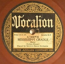 Vocalion 78 Selven Dance Orch MISSISSIPPI CRADLE Jockers Dance Orch Song... - $34.20