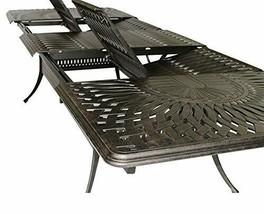 Cast Aluminum 7 Piece Outdoor Patio Dining Set Extendable Table 48 x 132. image 2