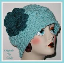 Aqua Blue Women's Hat, Ice Blue Women's Hat, Aqua Blue Chemo Hat, Ice Bl... - $36.00