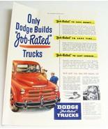 """Vintage 1948 Magazine Print Ad - DODGE """"Job-Rated"""" Trucks - $12.00"""