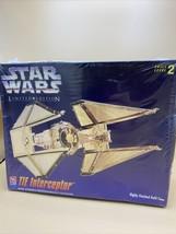 1995 AMT ERTL Star Wars TIE Interceptor Limited Edition Gold Tone Model Kit - $17.33