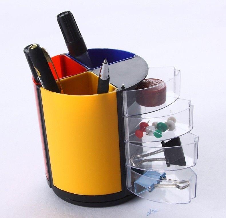Multifunction Pen Holder Pencil Vase Pot Office School Desk Organizer