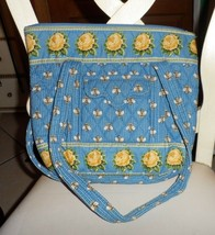 Vera Bradley small Villager tote in retired Blue Bees Pattern #2 - $24.50