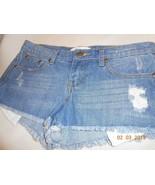 NEW Forever 21 mini jean shorts denim size 25 distressed cutoff pockets... - $7.91