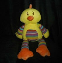 "12"" 2014 ANIMAL ADVENTURE YELLOW DUCK CHICK RAINBOW STUFFED PLUSH TOY LO... - $36.47"