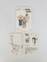 Kwik Sew 985 Misses Sleeveless Short Sleeve Stretch Knit Top Pattern XS-... - $12.50