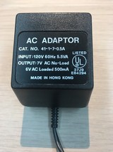 AC Power Supply Adapter Adaptor Charger Cord 41-1-7-0.5A  6V 500mA           G2