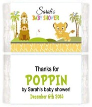 Baby Shower Mod Mom Popcorn Wrappers Party Favors Personalized Custom - $0.99