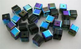 3 4 mm Swarovski 5601 Crystal Cubes -- Morion ABB - $1.42