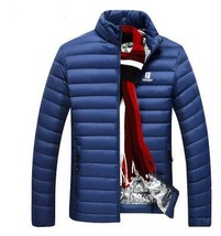 DOWN JACKET MEN Brand Clothing Spring Ultra Light Casual Parkas Stand Co... - $66.32