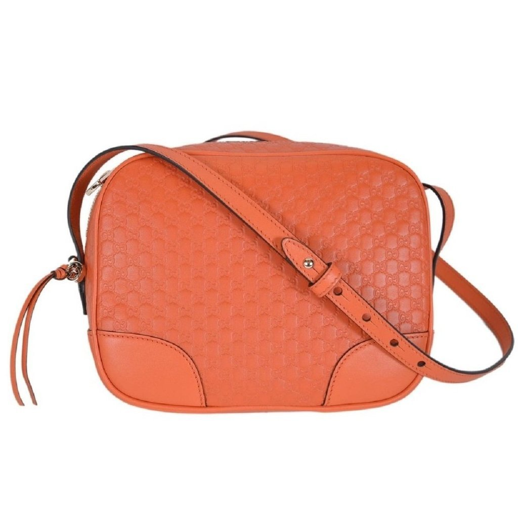 Gucci mini bree microguccissima soft calf margaux sun orange hand bag 449413 stella saksa