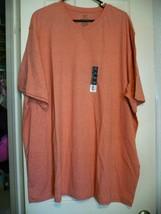 George Men's Short Sleeve Jersey V-Neck Tee Shirt Size XLT 46-48 Coral Reef - $8.55