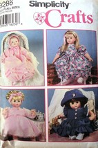 Simplicity Pattern 9286 All Sizes 12 to 22 Dolls Dresses Bonnets Hats 6 Styles - $6.95