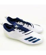 Adidas Mens Adizero Football Cleats Sz 16 White With Navy Stripes New - $49.49