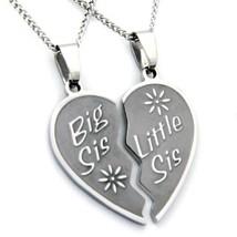 Rush Industries Big Sis Lil Sis Necklace - Big Sis & Lil Sis Break Apart - $29.36
