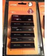 9 TDK DVC 60 min Mini Digital Video Cassette Blank Tapes Factory Sealed - $25.00