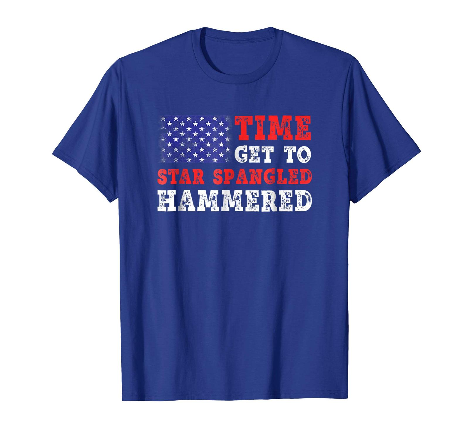 Brother Shirts - Time To Get Star Spangled Hammered T-Shirt Fourth of July Men image 3