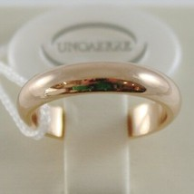 SOLID 18K YELLOW GOLD WEDDING BAND UNOAERRE RING 6 GRAMS MARRIAGE MADE IN ITALY image 1
