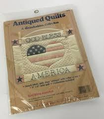"""Antiqued Quilts God Bless America Mini Quilt Kit 8"""" x 6"""" Finished Size - $19.99"""