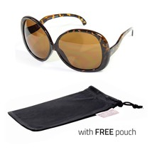 Huge Extra Oversized Large Womens Vintage Round Sunglasses LightTorto  P... - $5.99