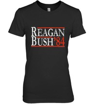 Reagan Bush 84 Vintage Conservative Republican Retro T Shirt - $19.99