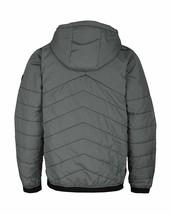 Bench Ahlo Black Charcoal Grey Quilted Lightweight Winter Jacket Hood BMKA1469 image 2