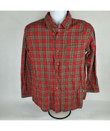 Magellan Outdoors Mens Button Front Shirt Sz M Med Red Flannel Plaid - $19.34