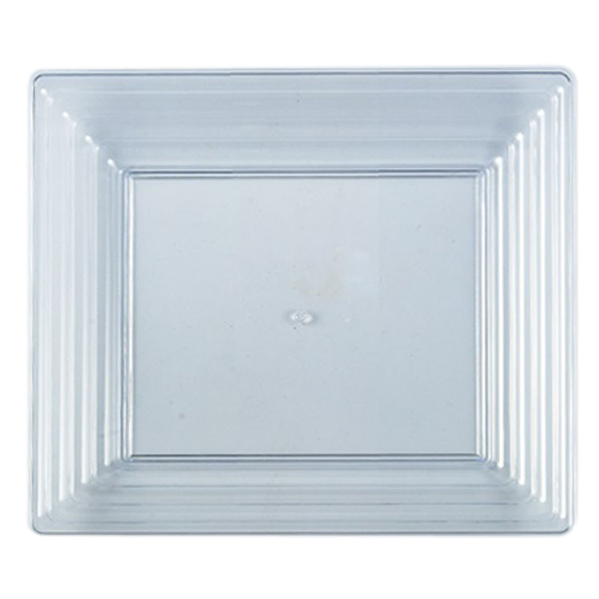 16 Sq. Clear Plastic Rectangular Serving Tray/Case of 25