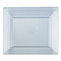 16 Sq. Clear Plastic Rectangular Serving Tray/Case of 25 - $97.55