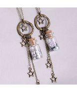 Vintage Wishing Star Miniature Bottle Charm Necklace - $18.00