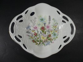 New In Box Rare Aynsley Wild Tudor Pierced Tray - $44.99
