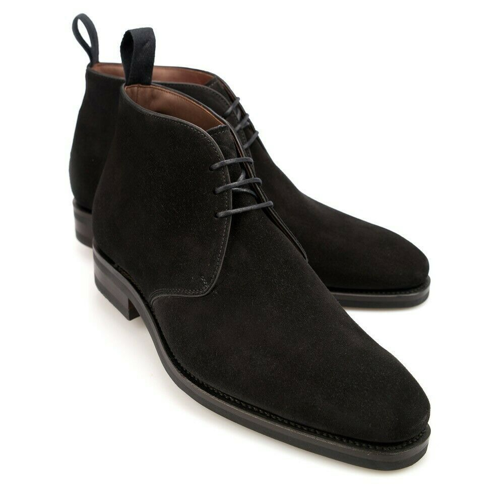 Primary image for Men's Black Chukka Suede Ankle High Premium Quality Leather Handcrafted Boots