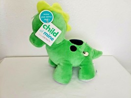 Carters Child of Mine Dinosaur Green Blue Spots Plush Stuffed Animal Mus... - $39.58