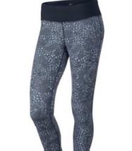 Nike Epic Luxe Leggings TAILLE L Pantalon Noir Gris Imprimé Coupe Étroite 73.7cm - $30.58