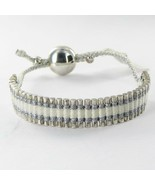 Links of London Friendship Bracelet Pewter & White 5010.0543 925 New $225 - $140.65