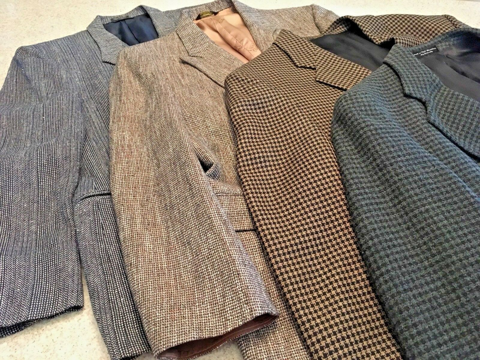 Primary image for Men's Lot Of 4 Sport Jackets (George Machado/Andre Vachon/Eagle/Palio Uomo (42R)