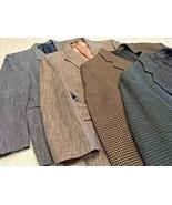 Men's Lot Of 4 Sport Jackets (George Machado/Andre Vachon/Eagle/Palio Uo... - $26.18