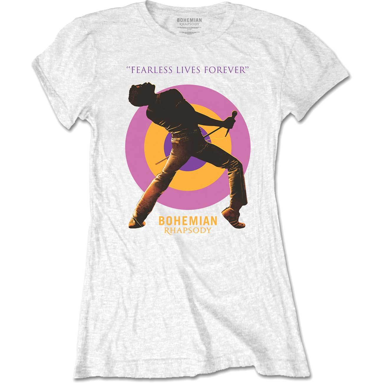 Primary image for Ladies Queen Freddie Mercury Stage Pose Official Tee T-Shirt Womens Girls