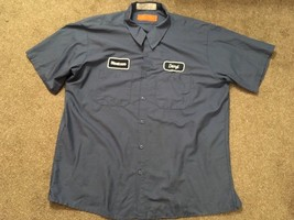 "Steelcase Blue Work Shirt Size 2XL With ""Daryl"" Name - $49.99"