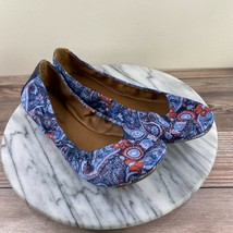 NEW Lucky Brand Emmie Blue Paisley Fabric Ballet Flats Womens Size 8 - $39.95