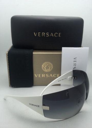 ff88b213bd New VERSACE Sunglasses VE 2054 1000 8G 115 Gunmetal   White w Grey Gradient