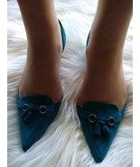 Black Leather Pointed Toe Shoes by Enzo Angiolini - $55.00