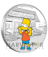 2019 THE SIMPSONS - BART SIMPSON - 1 OZ. SILVER COIN - WITH OGP - MINTAG... - $2.008,05 MXN