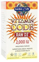 Garden Of Life Raw D3 Supplement - Vitamin Code Whole Food Vitamin D3 20... - $21.63