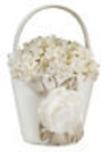 taupe wedding flower girl basket  - $12.99