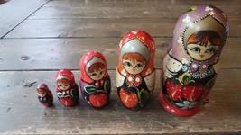 "5 Piece Nesting Dolls Red Strawberry 5.75"" - $19.79"