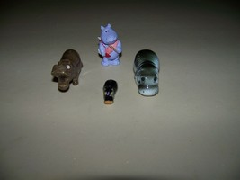 Vintage 3 Miniature Porcelain Hippopotamus Figurines & 1 1989 Hallmark Hippo - $49.95