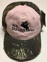 Elk Safaris West Hat Distressed Camo Hunting Preserve Baseball Cap Ashto... - $25.65
